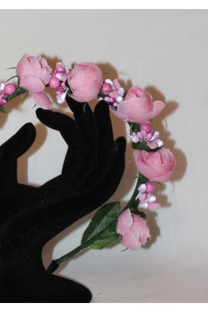 Обідок «Троянди» рожевого кольору