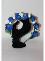 Ободок «Розы» синего цвета
