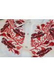 Вишиванка «Макова грація» біло-червона