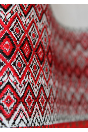 """Платье """"Морское"""" красного цвета на бретелях"""
