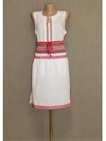 Белая юбка с красным орнаментом