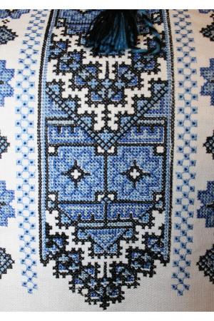 """Вишиванка """"Подолянка"""" з вишивкою синього кольору"""