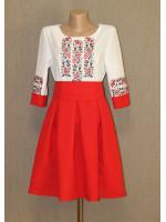 Платье «Розы» красного цвета