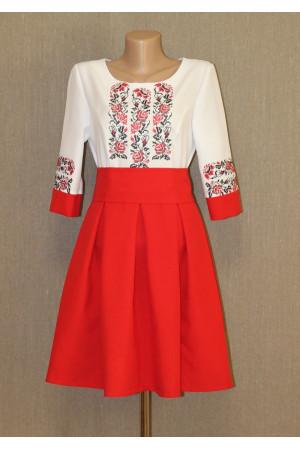 """Сукня """"Троянди"""" червоного кольору"""