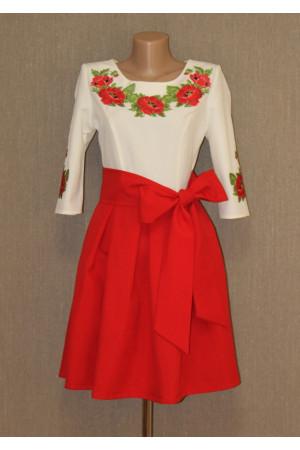 Сукня «Святкові маки» червоного кольору
