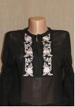 """Блуза """"Ніжність"""" з вишивкою рожевого кольору"""