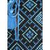 Футболка «Поло» с вышивкой синего цвета