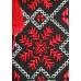 Футболка «Снежинка» черная с вышивкой красного цвета
