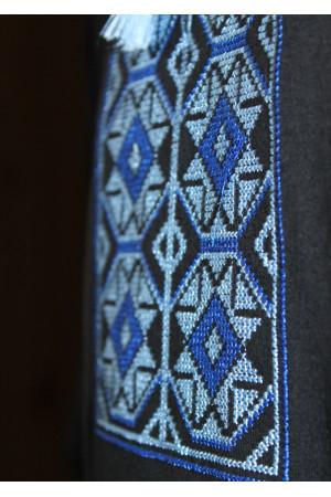 Футболка «Ромби» з вишивкою синього кольору КР