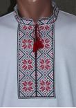 Футболка «Народна» з вишивкою червоного кольору КР