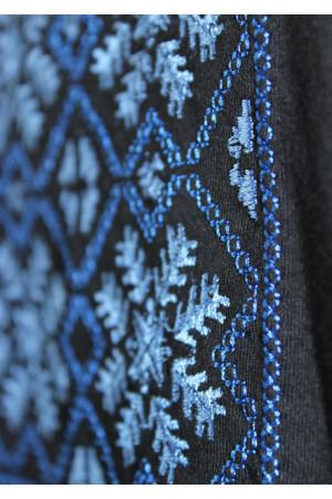 Футболка «Сніжинка» з вишивкою синього кольору КР