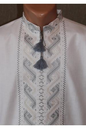 """Вишиванка """"Шлях"""" з вишивкою сіро-бежевого кольору"""