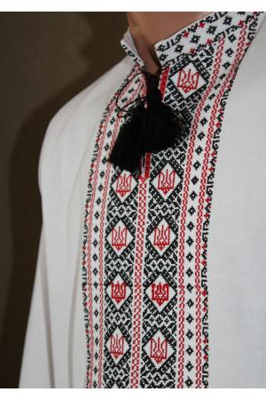 """Вишиванка """"Тризуб"""" з червоно-чорним орнаментом"""