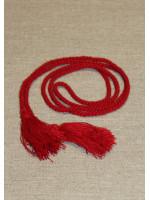 Пояс - мотузка червоного кольору