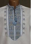 """Вишиванка """"Полуботок"""" з вишивкою сіро-блакитного кольору"""