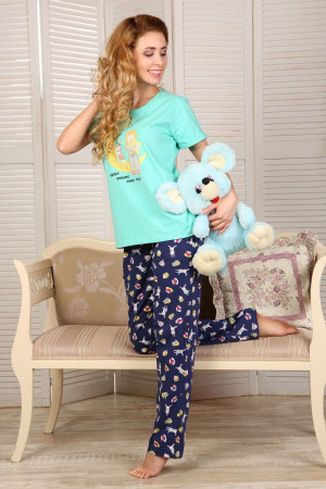 Пижама П-М-51 мятного цвета