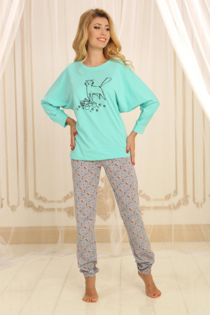 Пижама П-М-62 мятного цвета