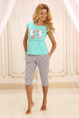 Пижама П-М-55 мятного цвета