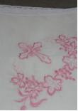 Крижма з вишивкою рожевого кольору