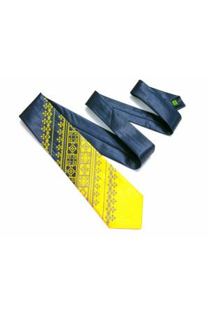 """Краватка з вишивкою """"Жовто-синій дует"""""""