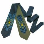 """Вышитый галстук с тризубом """"Мирослав"""""""