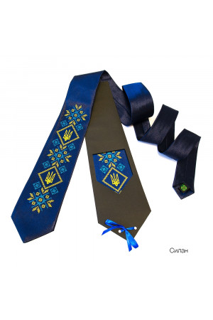 """Краватка з вишивкою """"Силан"""""""