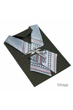 "Кросс-галстук с вышивкой ""Млада"""