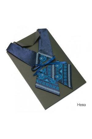 Крос-краватка з вишивкою Нева