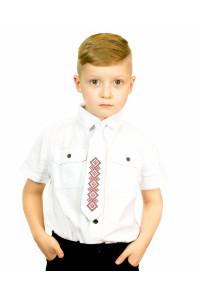 """Детский галстук """"Верь"""" с вышивкой"""