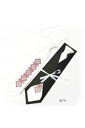 """Дитяча краватка """"Вір"""" з вишивкою"""