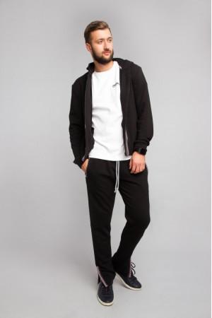 Спортивные штаны черного цвета с украинским орнаментом