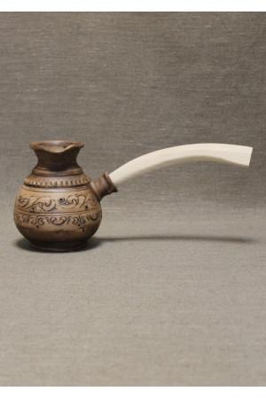 """Турка высокая """"Шляхтянская"""", 0,5 л с деревянной ручкой"""