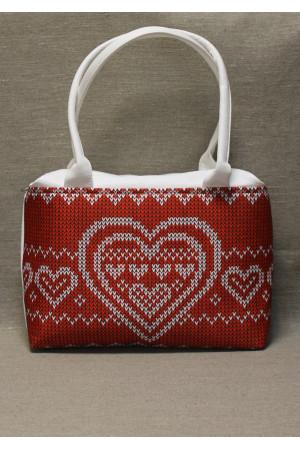 Сумка «З Україною в серці» білого кольору