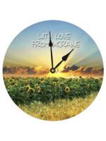 Настенные часы круглые «Рассвет»
