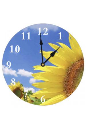 """Настінний годинник круглий """"Соняшники"""""""