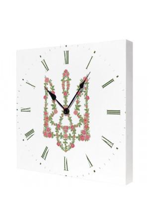 """Настінний годинник """"Трояндовий вінок"""""""