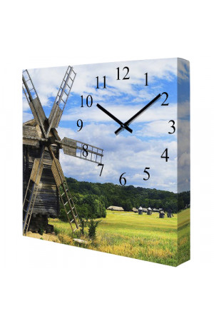 """Настінний годинник """"Вітряки"""""""