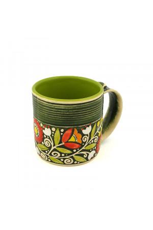 """Зеленая чашка """"Веночек"""" (400 мл)"""