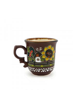 "Керамічна чашечка для кави ""Хуторок"", 100мл"