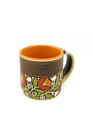 """Жовтогаряча чашка """"Віночок"""" (400 мл)"""