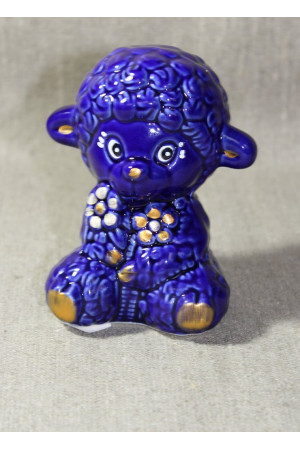 Баранчик з квітами (синій)