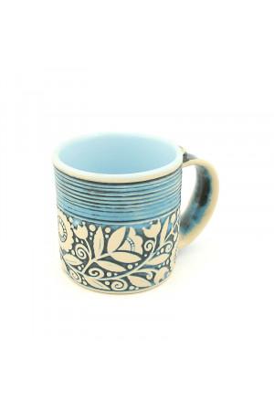 """Блакитна чашка """"Віночок"""" (400 мл)"""