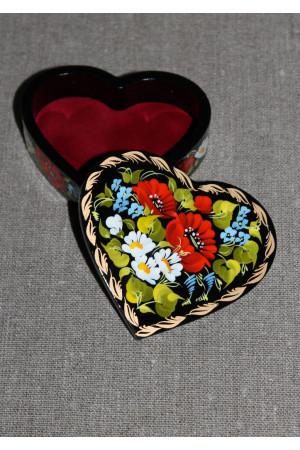 Шкатулка в форме сердца (маленькая)