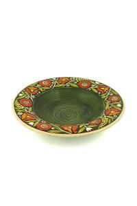 """Зеленая суповая тарелка """"Веночек"""""""