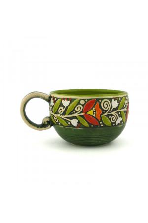 """Зелена чашка """"Віночок"""" (300 мл)"""