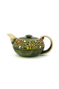 """Зеленый чайник из серии """"Веночек"""""""