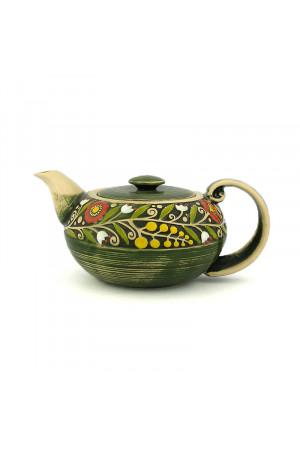 """Зелений чайник з серії """"Віночок"""""""