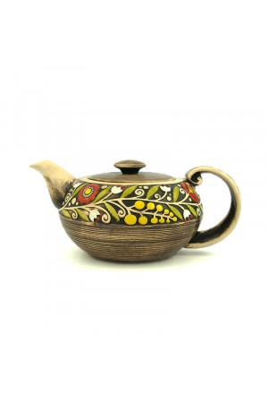 """Коричневий чайник з серії """"Віночок"""""""