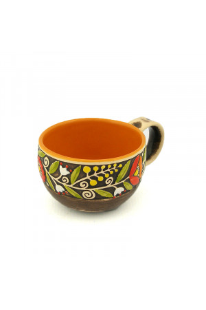 Жовтогаряча чашка «Віночок» (150 мл)