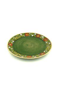 """Зеленая тарелка """"Веночек"""""""